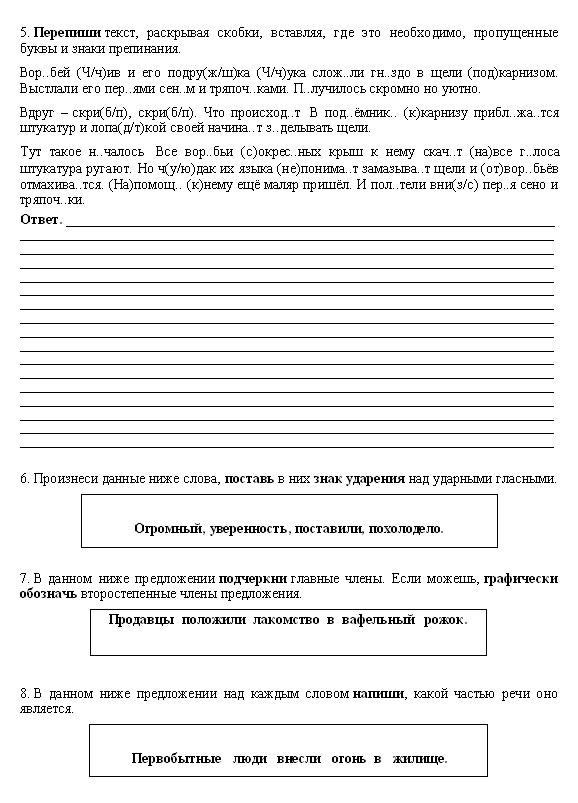 ВПР по русскому языку
